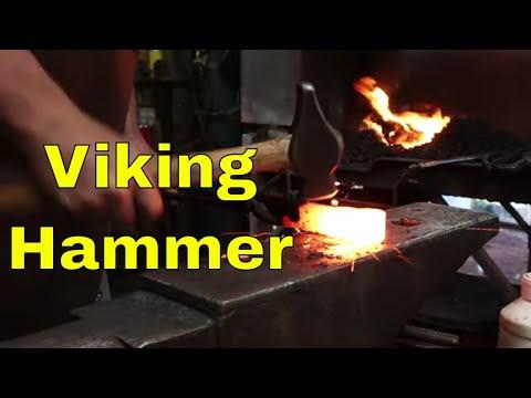 Wrought Iron Viking Blacksmith Hammer #65 From The Mastermyr Find