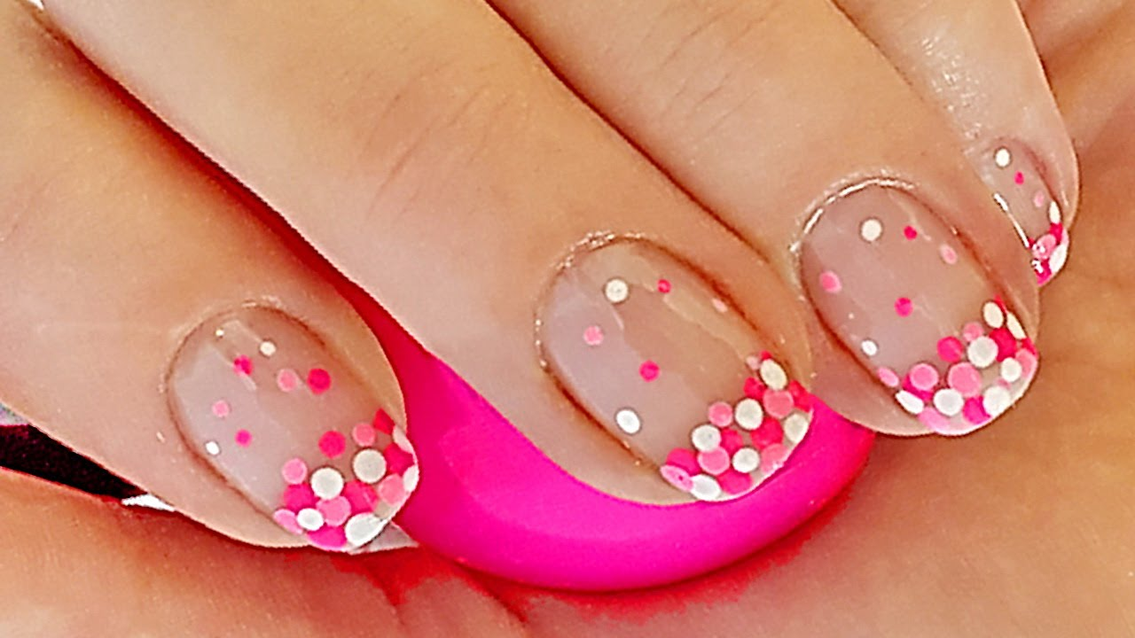 French manicure nail designs french manicure with dots nail art french manicure nail designs french manicure with dots nail art for white dress prinsesfo Gallery
