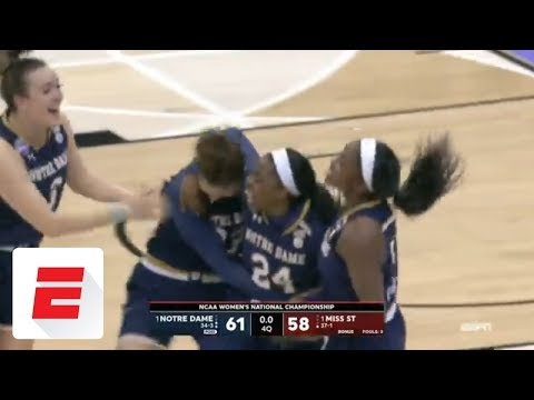 Ogunbowale hits crazy three to win national championship for Notre Dame