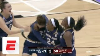 Ogunbowale hits crazy three to win national championship for Notre Dame | ESPN