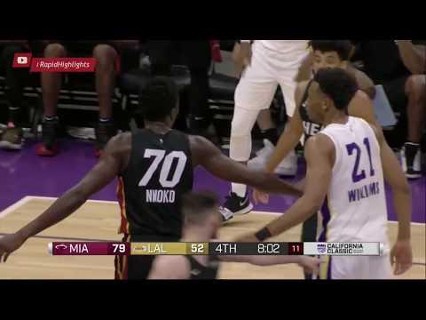 Майами Хит Vs Лос Анжелес Лэйкерс   Летняя лига NBA   3 июля 2018   Обзор матча