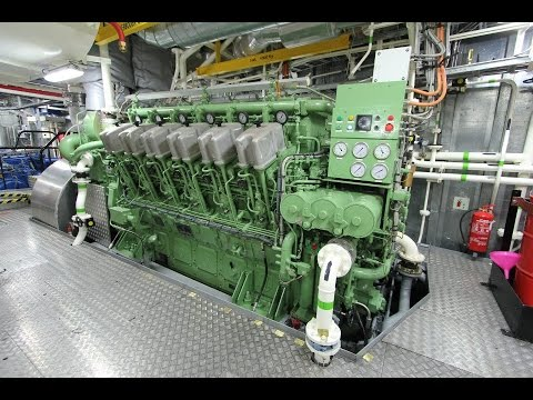 ABC V12 Diesel Engine Startup - Tugboat 7200hp