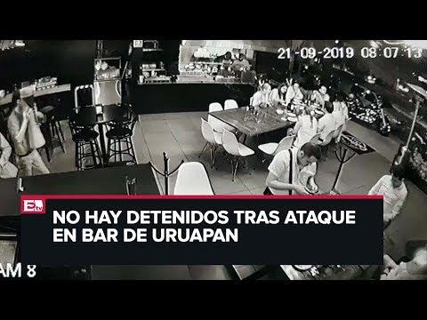 Fuertes imágenes: Ataque a bar deja 4 muertos en Uruapan