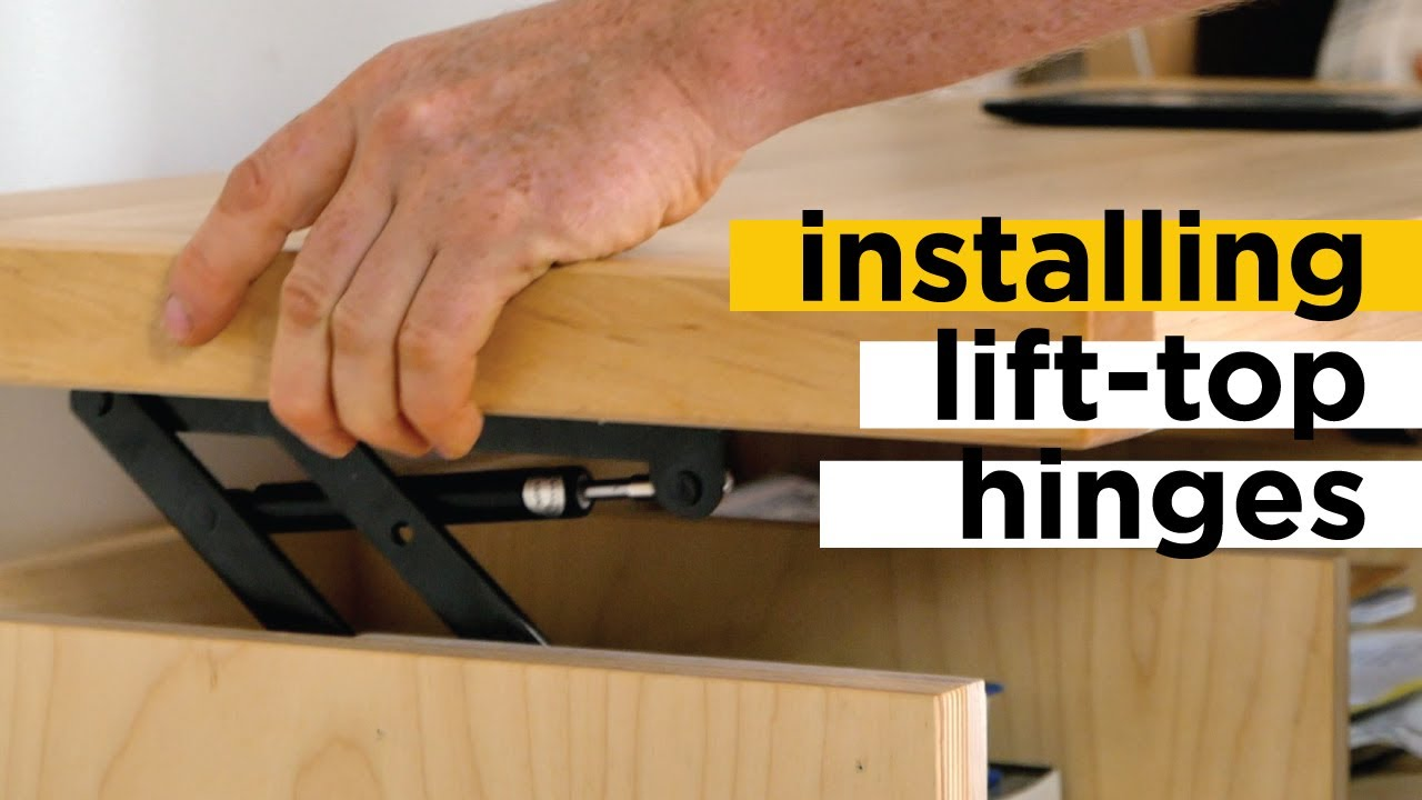 installing lift top coffee table hinges