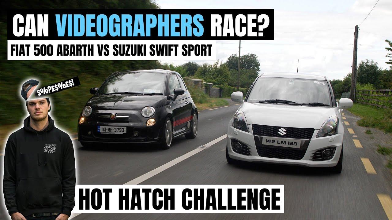 CAN VIDEOGRAPHERS RACE? | FIAT 500 ABARTH vs  SUZUKI SWIFT SPORT