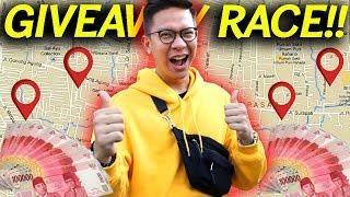 BAGI2 HADIAH DI SELURUH PENJURU KOTA!!! GIVEAWAY RACE!!!