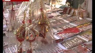 भाई बहन के प्रेम का त्यौहार रक्षाबंधन कल इलाहाबाद में राखियों का बाजार गर्म