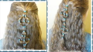 Elastic Design Half Up Hairstyle