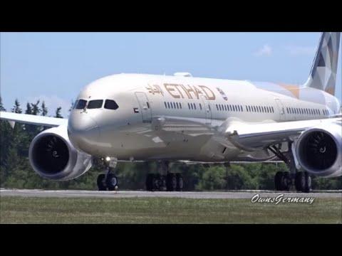 First Flight of Etihad Airways A6-BLE Boeing 787-9 Dreamliner @ KPAE Paine Field