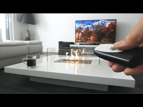 https://www.a-fireplace.com/coffee-table-fireplace-lou/ LOU coffee table fireplace with remote control AFIRE tabletop fireplace with ethanol burner insert to...