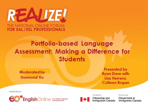 REALIZE 2015 Forum - Portfolio-based Language Assessment: Making a Difference for Students