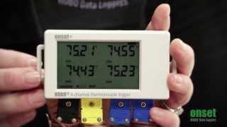 HOBO Thermocouple Data Logger UX120 014M