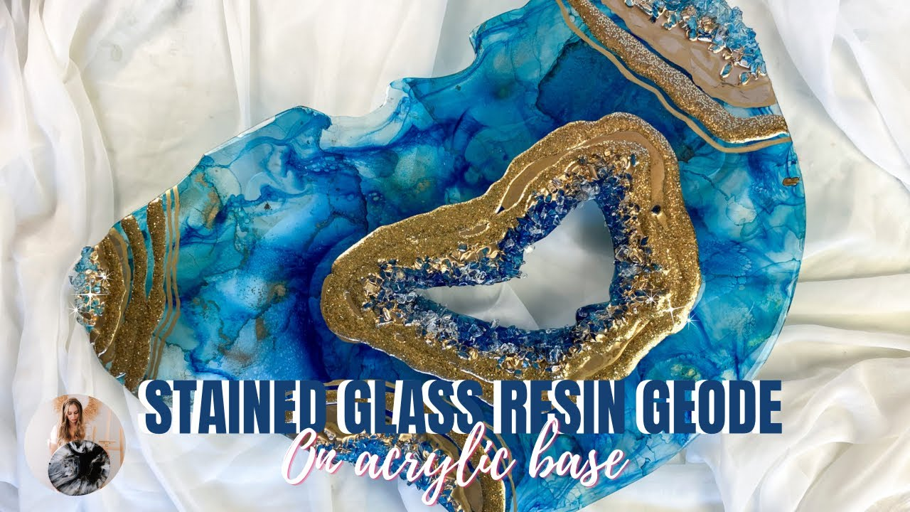 Want to know how to create a stained glass effect RESIN GEODE