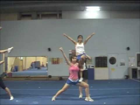 cheerleading stunts heel stretch