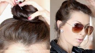 видео Как Сделать Ванильный Пучок на Голове Пошагово Своими Руками на Длинные и Короткие Волосы, из Локонов с Помощью Резинки