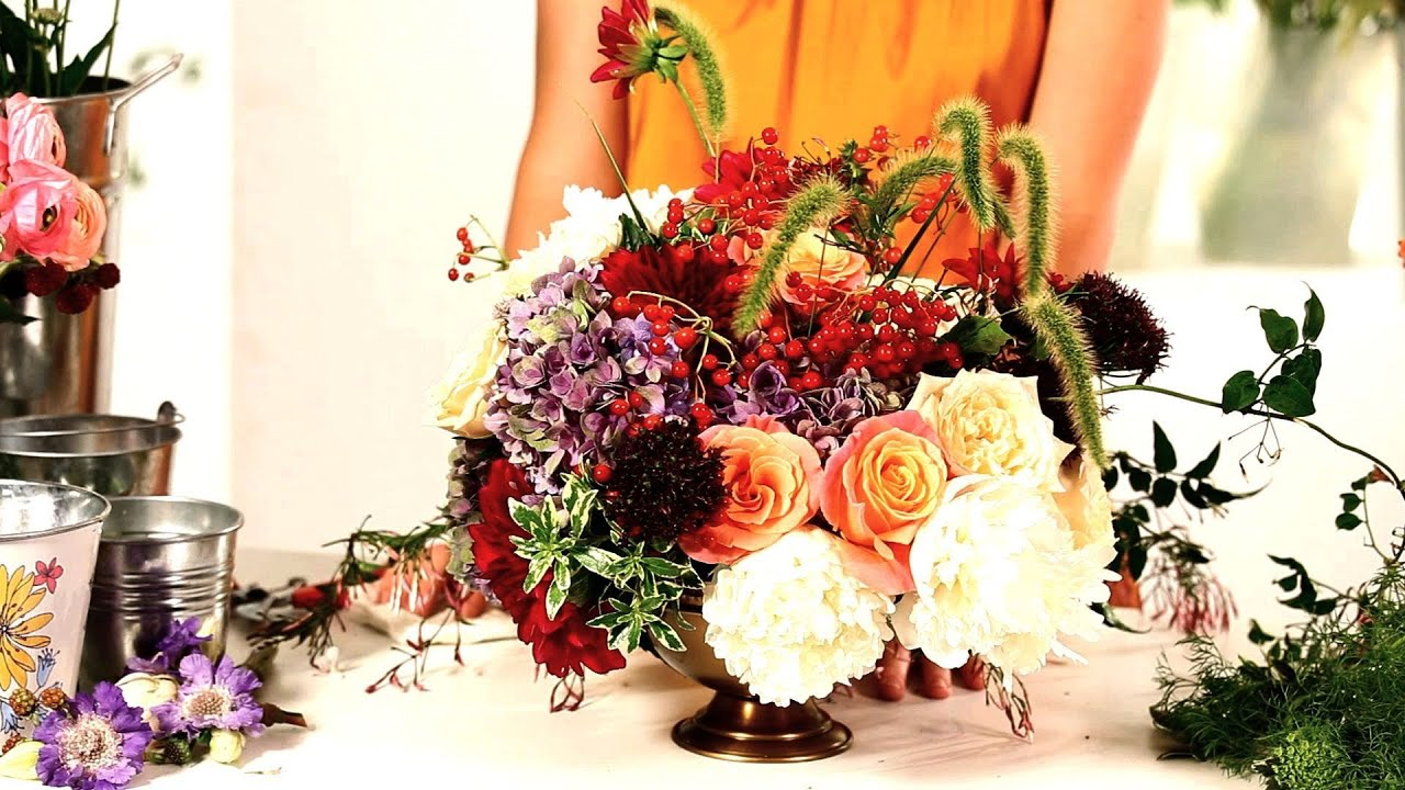 How To Arrange Flowers In Floral Foam Wedding Flowers Youtube