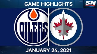 NHL Game Highlights | Oilers vs. Jets - Jan. 24, 2021