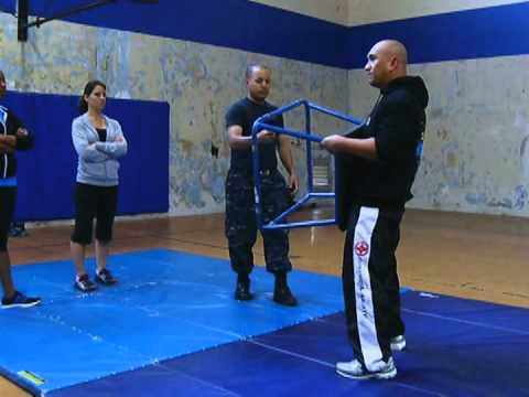 American Forces Network (AFN) Self-defense class at Sigonella, Sicily, Italy.