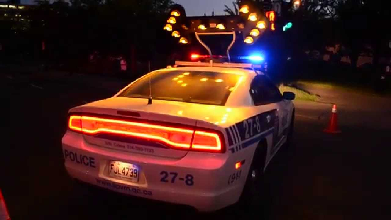 SPVM DODGE CHARGER POLICE CAR LIGHT SHOW YouTube - Car light show