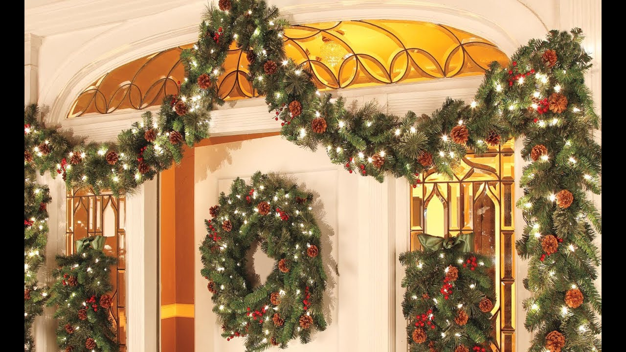 christmas decorations ideas 2018 christmas garland decoration ideas - Garland Christmas Decor