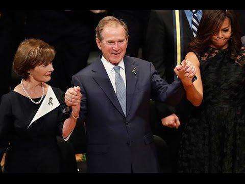 George W Bush Awkwardly Dances At A Funeral