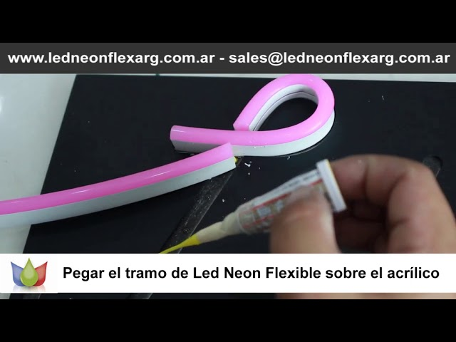 Como hacer o armar un cartel con neon led flexible