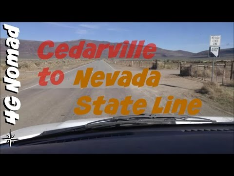 4G Van Life: Cedarville, CA to Nevada State Line