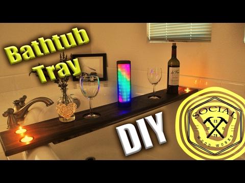 DIY Valentine Gift for Her - Bathtub Tray