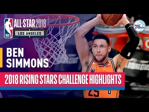 Ben Simmons Double-Double in 2018 Rising Stars | Presented by Mtn Dew Kickstart