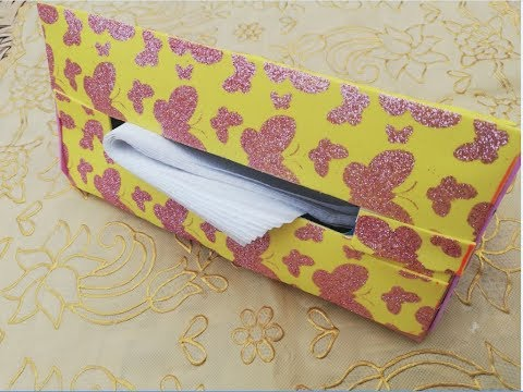 HOW TO MAKE AMAZING TISSUE PAPER BOX FROM WASTE MATERIALS