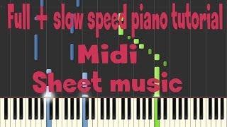 Shakira - Empire piano tutorial midi sheet music