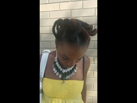 BEST AFRICAN THREADING Video for HAIR GROWTH#THREADING METHOD# WITH YARN.