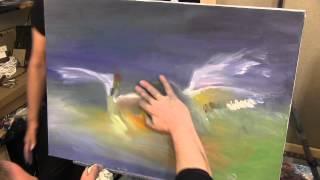 Цапли,Художник Игорь Сахаров, как научиться рисовать, уроки рисования