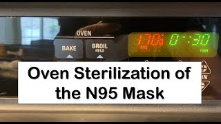 Gambar cover Oven Sterilization of the N95 Mask