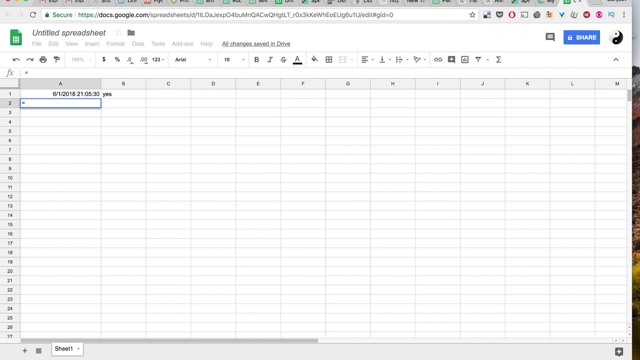 Fix changing TimeStamp on Google sheets. - YouTube