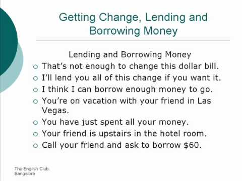Getting Change, Lending and Borrowing Money [Unit 74]