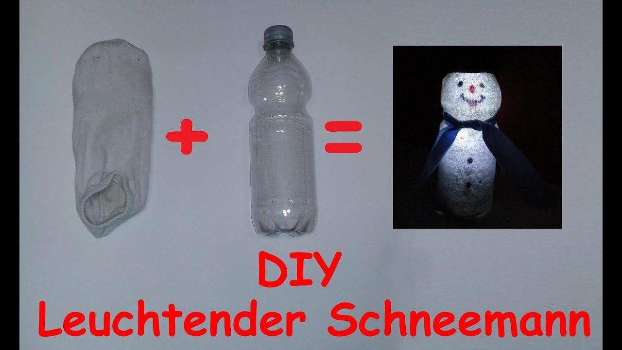 diy leuchtenden schneemann basteln led weihnachtsdeko selber machen anleitung deko tutorial youtube - Diy Weihnachtsdeko Basteln