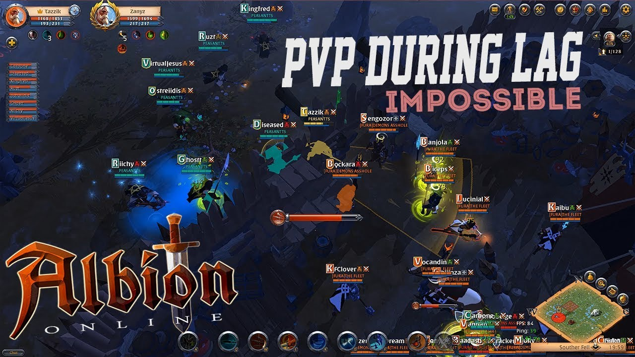 Albion Online Problems trying to pvp on albion online during a lag spike (fix servers ty)