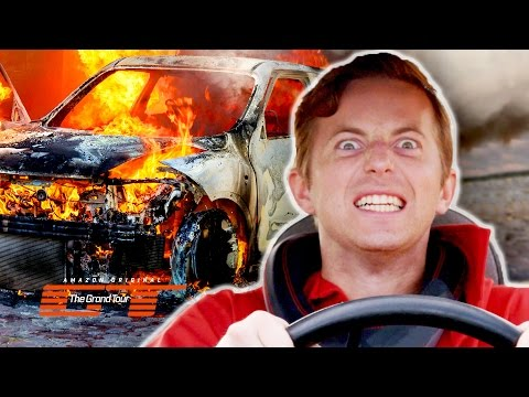 Thumbnail: The Try Guys Crash Cars Into Each Other // Presented by The Grand Tour