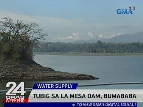 24 Oras: Tubig sa La Mesa Dam, bumababa