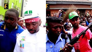 MC OLUOMO STEP OUT WITH HEAVY SECURITY GUARD TO CAMPAIGN FOR BUHARI AND SANWO OLU WITH PASUMA