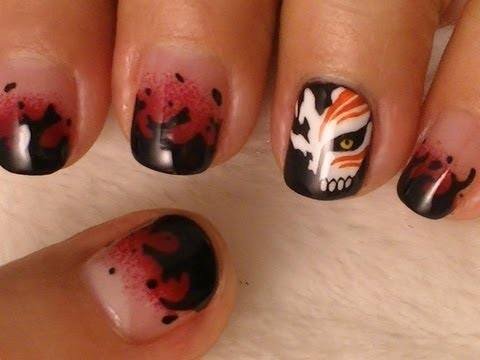 Bleach Nail Art Youtube