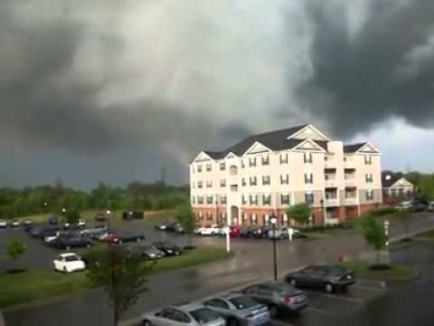 Tornado-April 27, 2011 at the Campus of Longwood University, Farmville, Virginia.