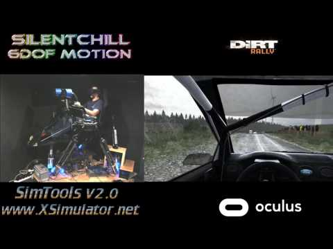 TEST2 - VR Motion Cancellation - 6DOF Motion Rig - Oculus Rift