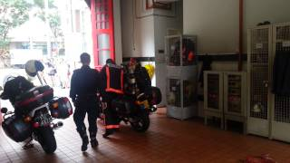 SCDF Fire bike FB111 responding.