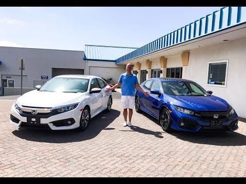 Review:  2017 Honda Civic Hatchback vs Sedan - As difficult a choice as you'll ever make