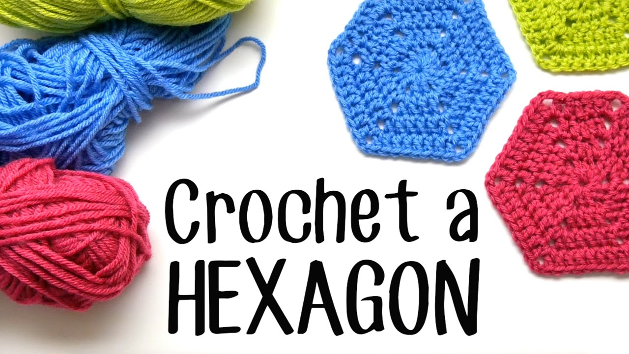 How To Crochet A Hexagon Youtube