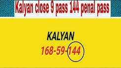 Satta matka KALYAN 99999 close pass with 144 penal