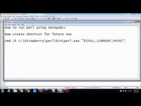 Running perl script using notepad++