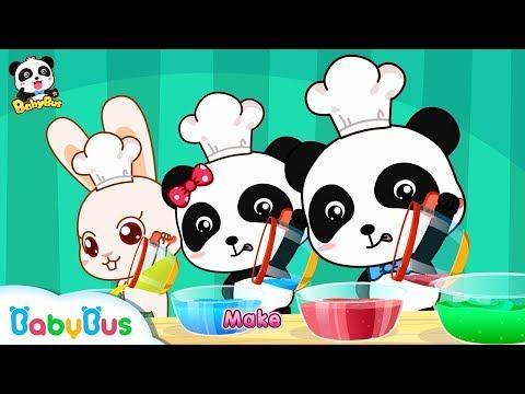 Baby Panda Makes Colorful Ice Cream | Mr. Dao's Dessert Truck | BabyBus Cartoon